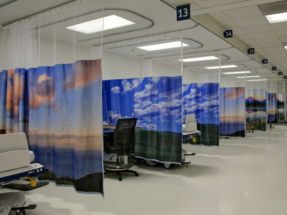 hardware medical curtain cubicle application track tracks hospital suspended curtains